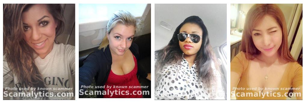 Weiblich romance scammer bilder Fake